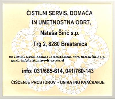 ČISTILNI SERVIS, DOMAČA IN UMETNOSTNA OBRT, NATAŠA ŠIRIĆ S.P.