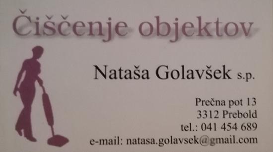 Čiščenje objektov, Nataša Golavšek s.p.